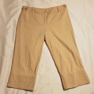 LOFT Khaki Capri Pants